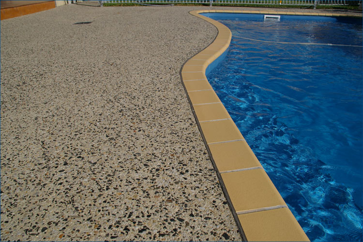 Pool Side Concrete Pebble Style Available In Various